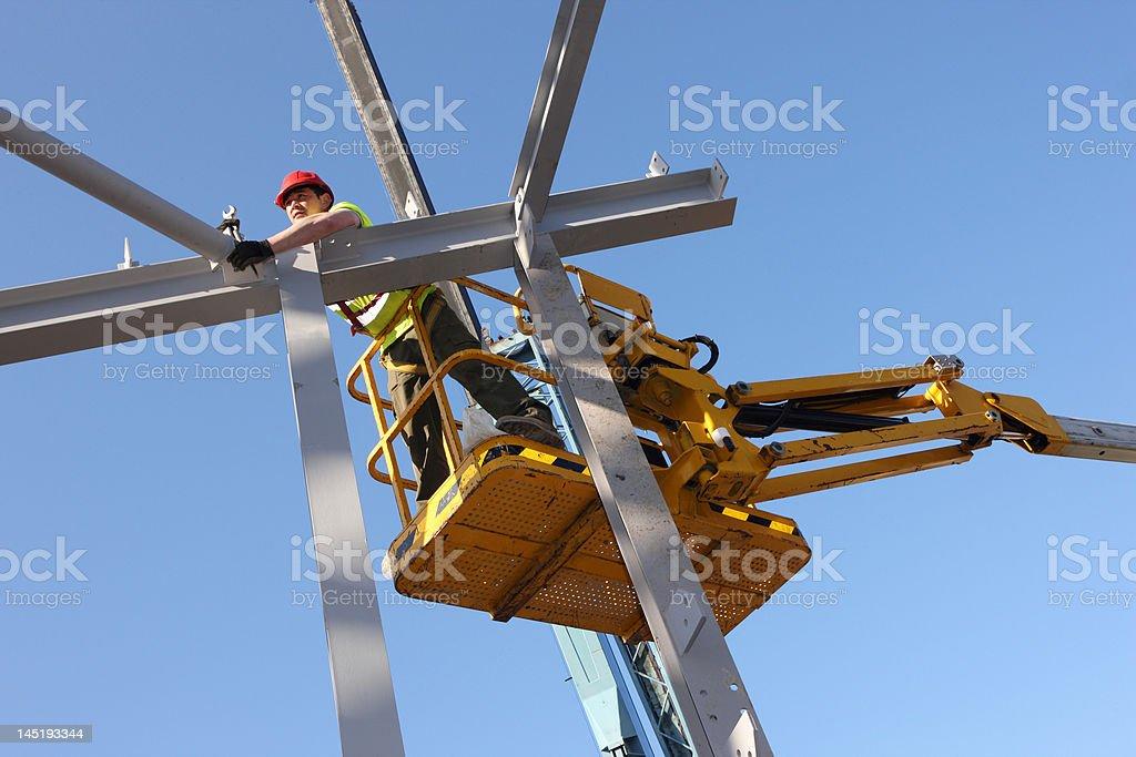 Steel Erector stock photo