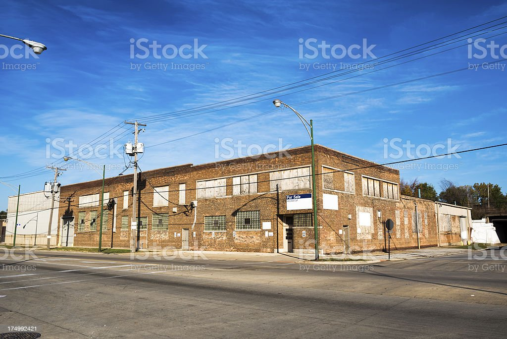 Steel Fabricators factory in Calumet Heights, Chicago royalty-free stock photo