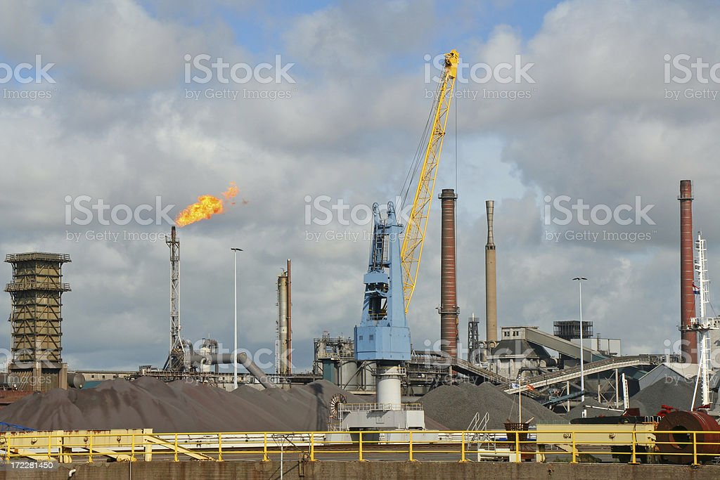 Steel factory # 1 royalty-free stock photo