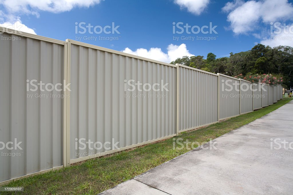 Steel Fence royalty-free stock photo