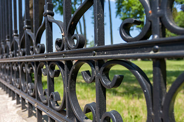 Steel fence with ornaments