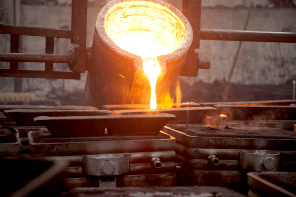 Steel foundry (iron foundry, smeltery) Steel foundry (iron foundry, smeltery) aluminum stock pictures, royalty-free photos & images