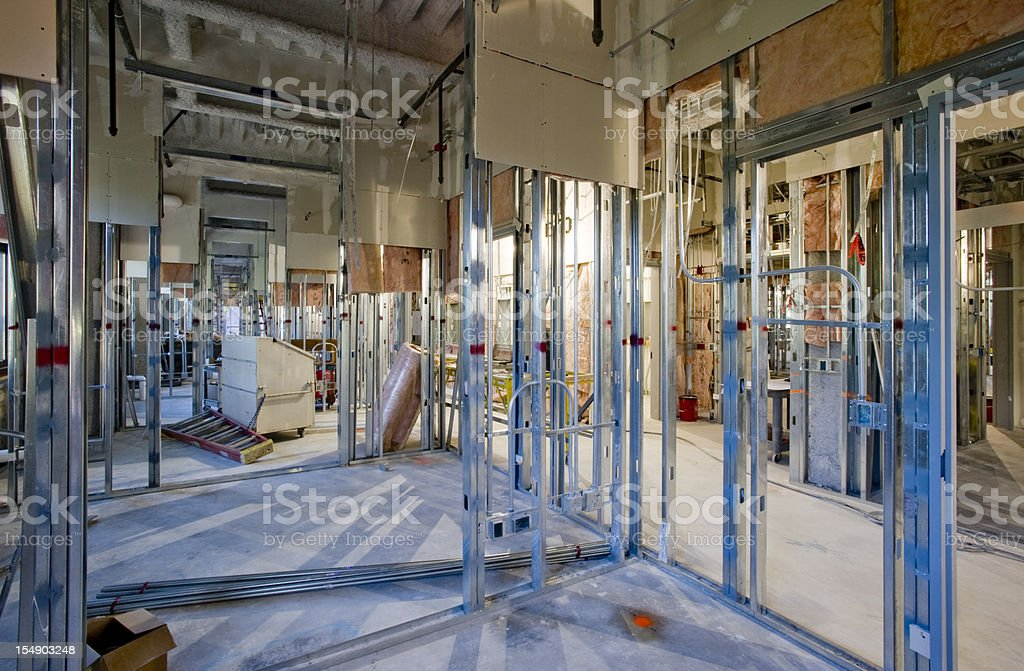 Steel Frame Construction royalty-free stock photo