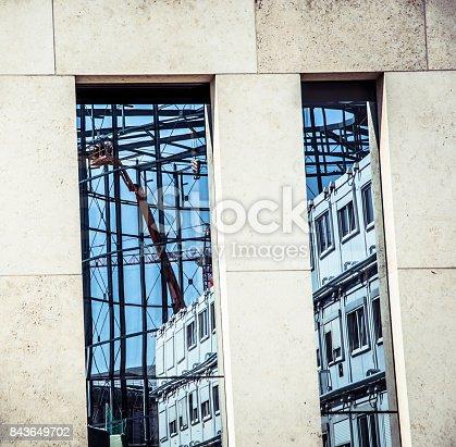 istock Steel frame structure in Berlin 843649702