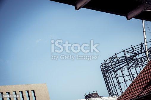 istock Steel frame structure in Berlin 843649706