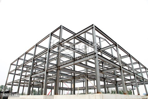 istock Steel frame structure 505171350