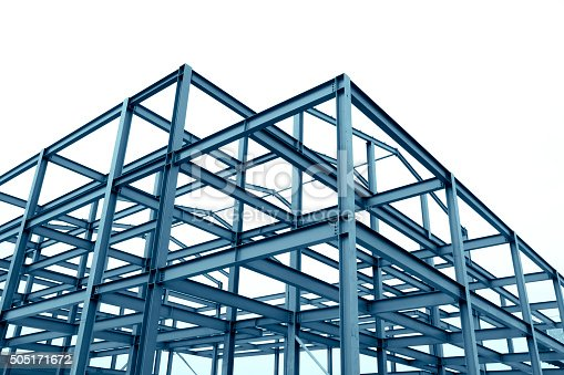 istock Steel frame structure 505171672