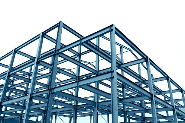 Steel frame structure Steel frame structure girder stock pictures, royalty-free photos & images