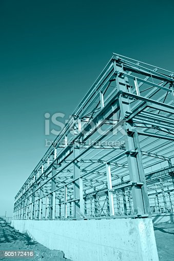 istock Steel frame structure 505172416