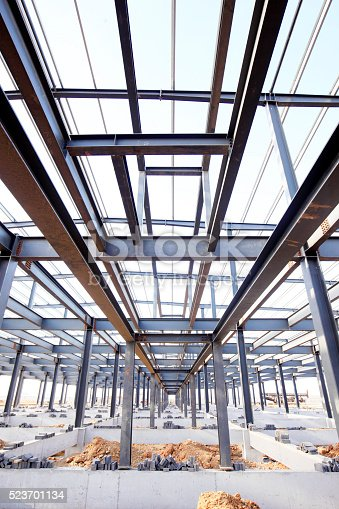 istock Steel frame structure 523701134