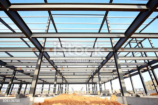 istock Steel frame structure 526126700