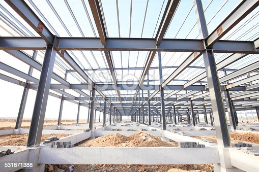 istock Steel frame structure 531871388