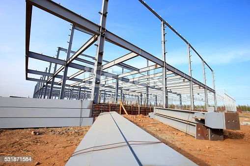 istock Steel frame structure 531871584