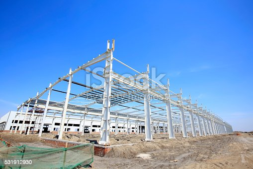istock Steel frame structure 531912930