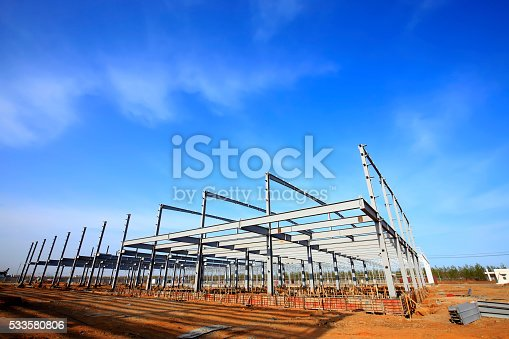 istock Steel frame structure 533580806
