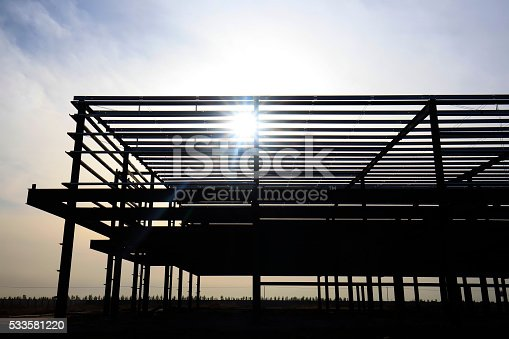 istock Steel frame structure 533581220