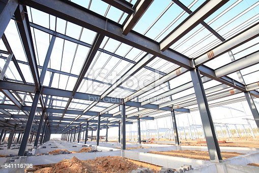 istock Steel frame structure 541116798