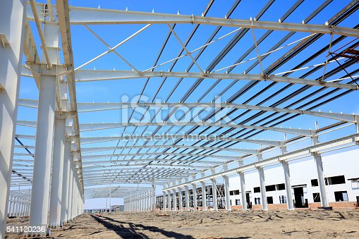 istock Steel frame structure 541120236