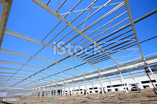 istock Steel frame structure 541836922