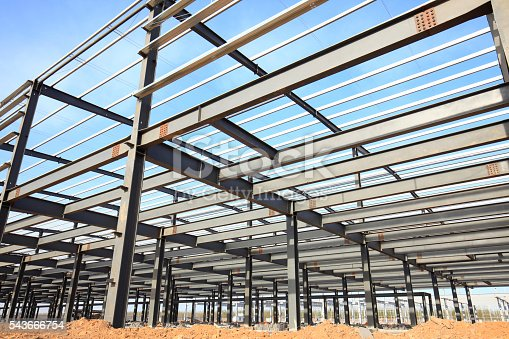 istock Steel frame structure 543666754