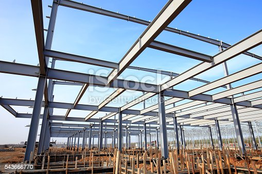 istock Steel frame structure 543666770