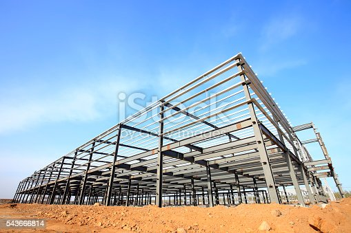 istock Steel frame structure 543666814