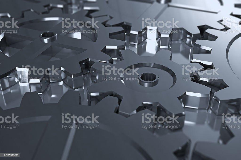 Steel Gears royalty-free stock photo