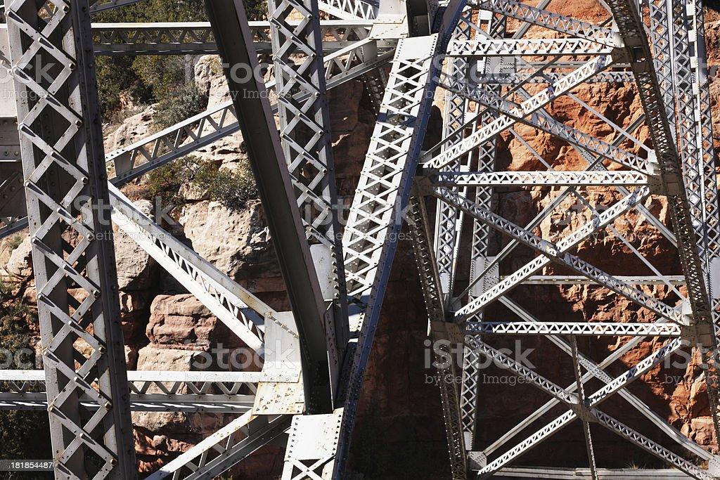 Steel Girder Bridge Spanning Canyon royalty-free stock photo