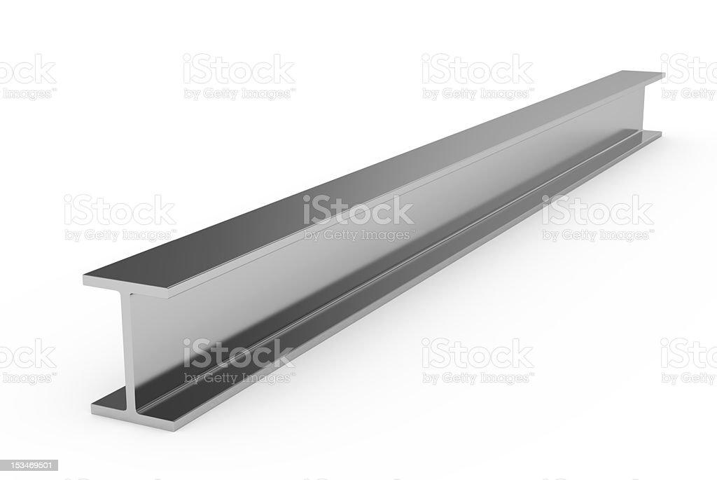 Steel girder on a white background stock photo