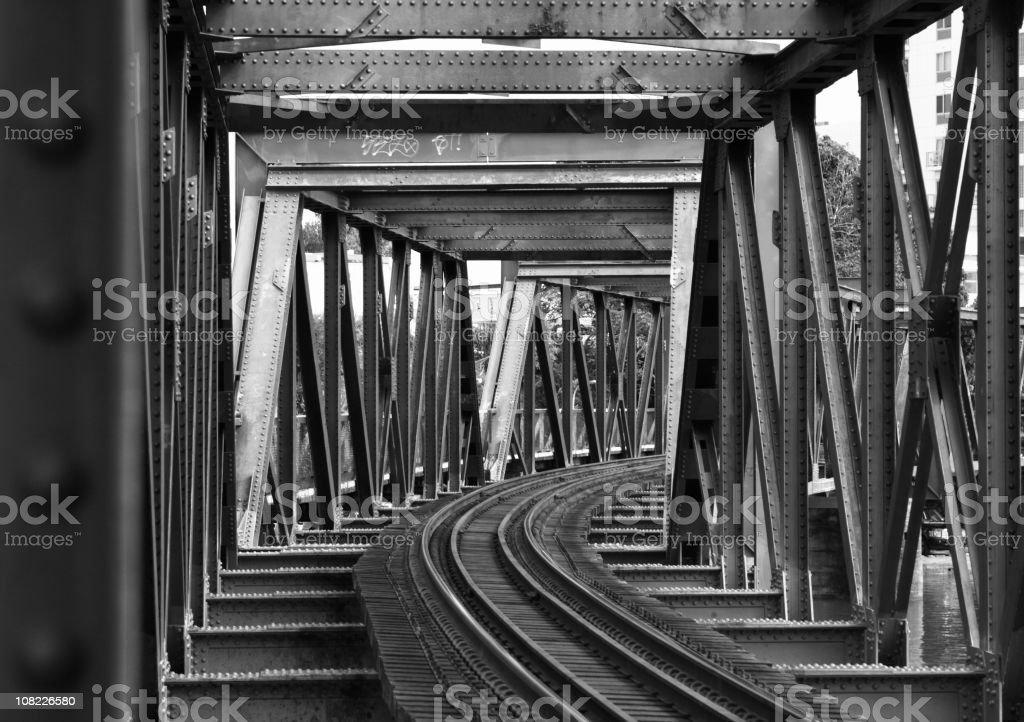 Steel Girder Railway bridge royalty-free stock photo