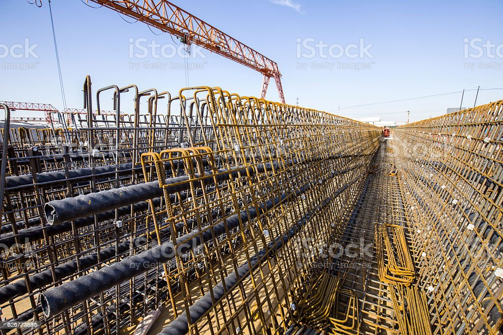 Steel grid stock photo