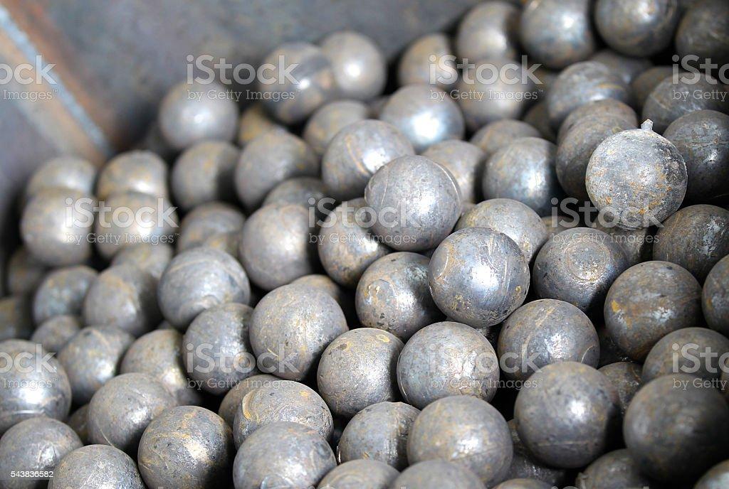 steel grinding balls stock photo