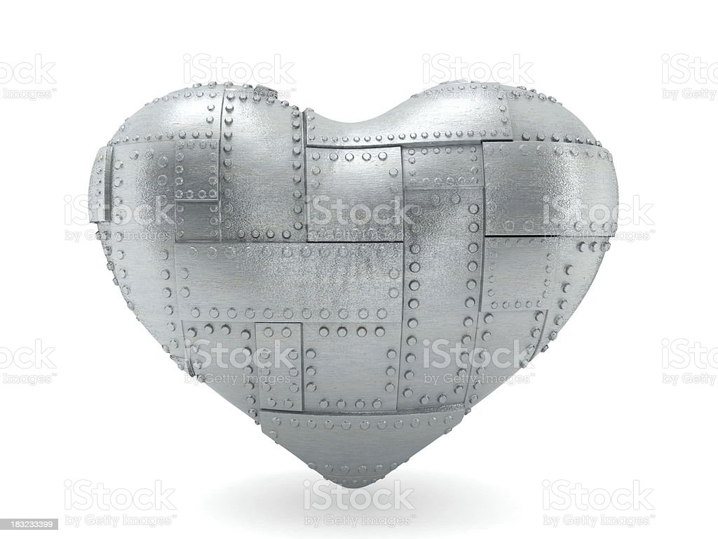 Steel heart royalty-free stock photo