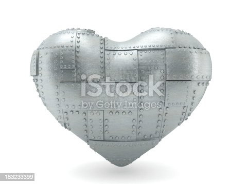 Steel heart isolated on white. Precise clipping path included.Similar images: