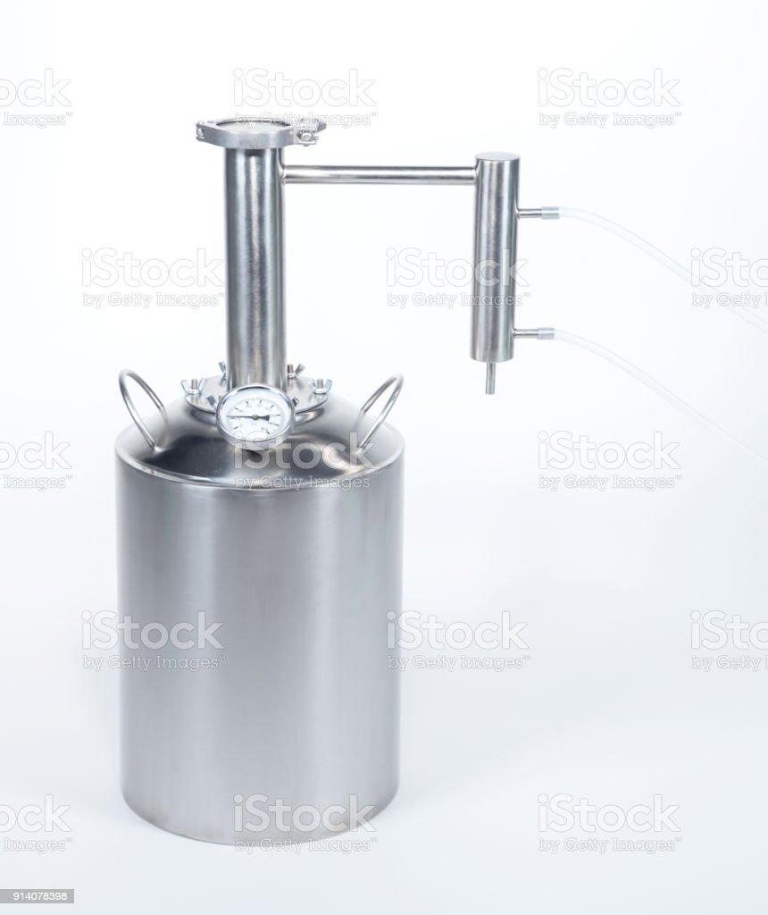 Hooch acero con tubos de - foto de stock