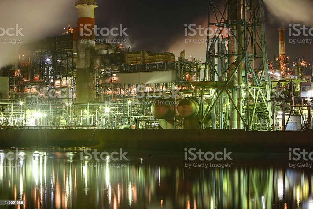 Steel Industry at night stock photo