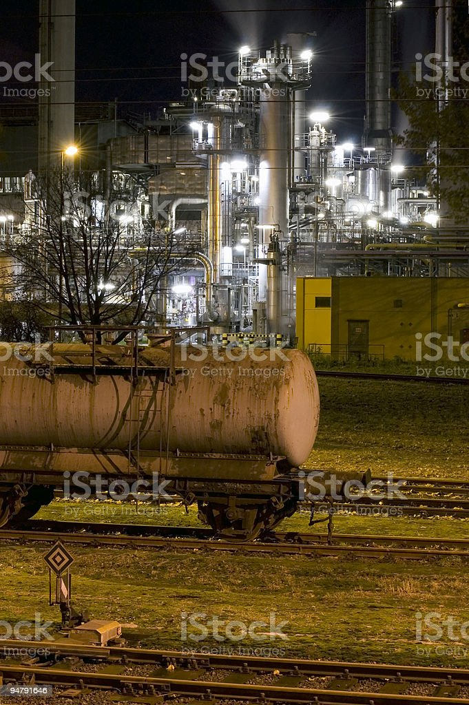Steel Industry at Night Series Nr.1 royalty-free stock photo