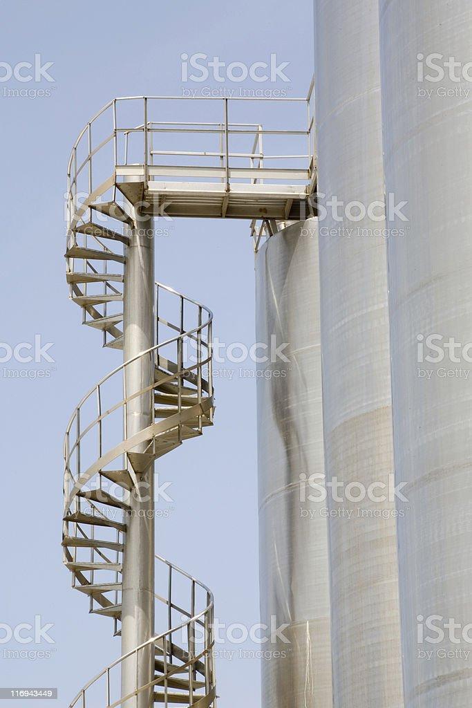 Steel ladder royalty-free stock photo