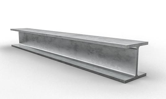 steel single beam bar 3d rendering image