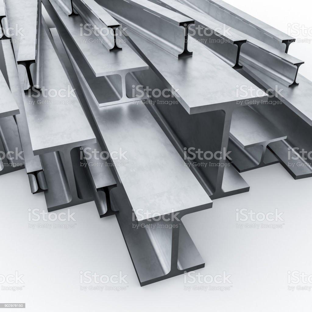 steel metal beam 3d stock photo