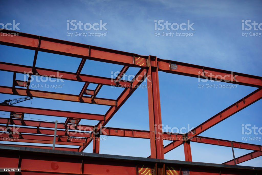 steel metal girders stock photo