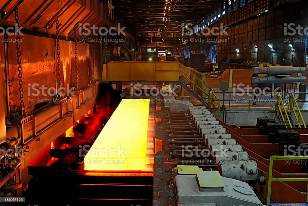 steel mill royalty-free stock photo