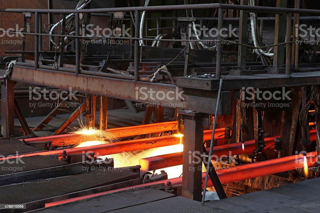 steel mill stock photo