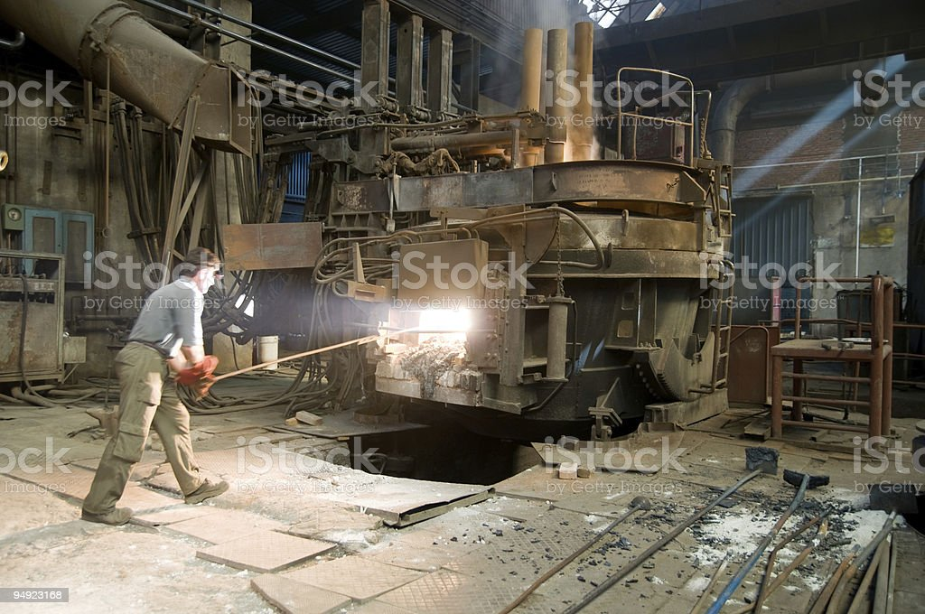 steel mill worker royalty-free stock photo