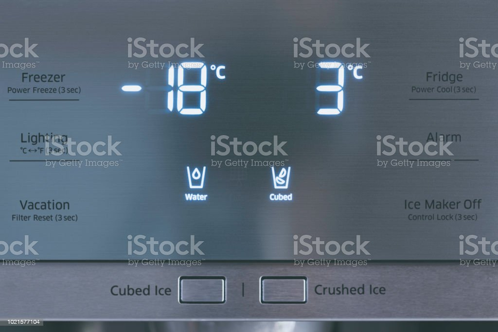 Steel Modern Touching Panel Of Fridge Water And Ice Dispenser Stock Photo Download Image Now Istock