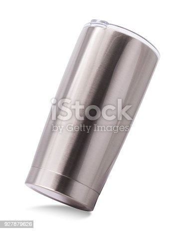 1129148925istockphoto Steel mug isolated on white background. Template of water container for design. ( Clipping path ) 927879626