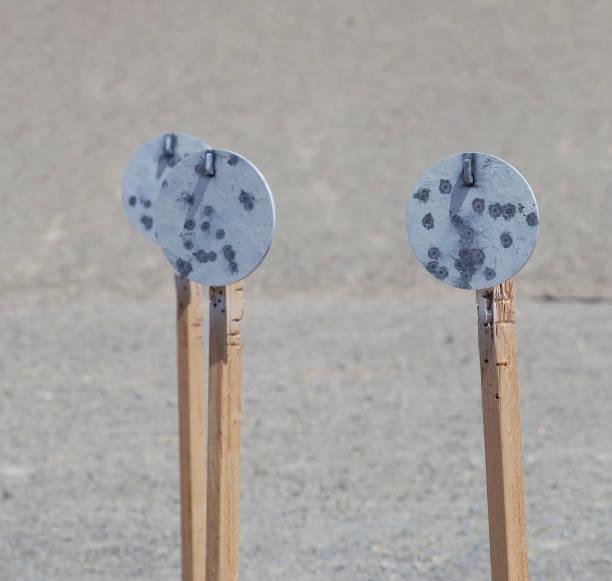 Stahlseiten auf Holz für Pistolenpraxis – Foto