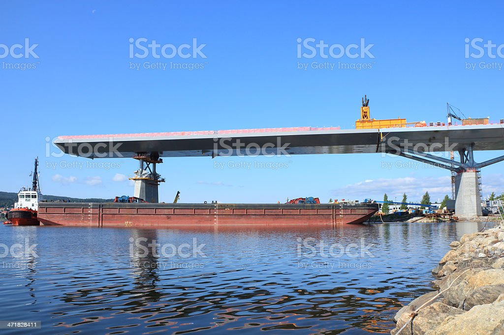 steel part no two fixed to the bridge royalty-free stock photo