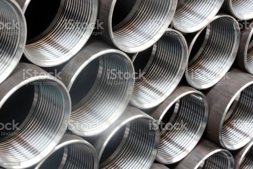 Steel Pipe stock photo