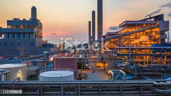 istock Steel plant, Metallurgical plant, Metallurgical steelmaking factory. 1127556526